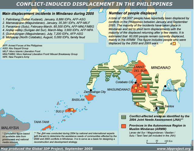 Map of Conflict in Mindanao