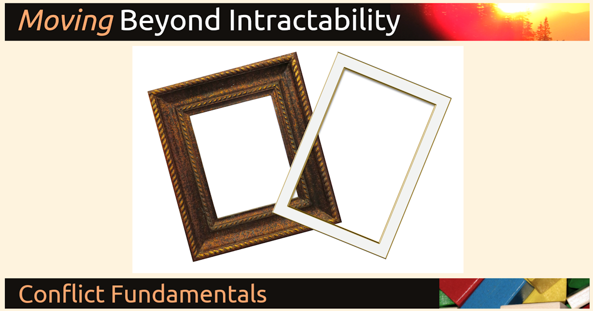 Frames, Framing and Reframing | Beyond Intractability