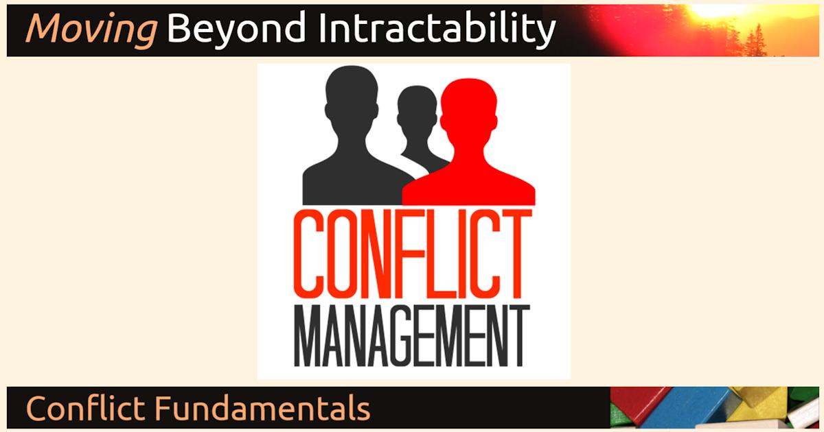 Settlement, Resolution, Management, and Transformation: An