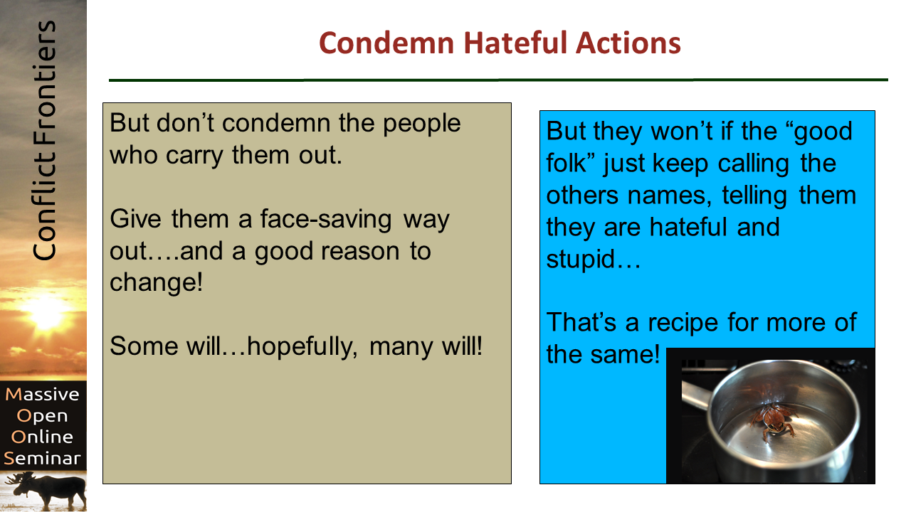 Counter Hate and Malevolence - Part 2   Beyond Intractability